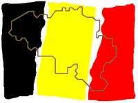 drapeau belge carte belgique