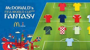 Fantasy League Coupe du Monde Russie Fifa Mc Donald's